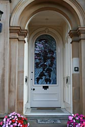 Front door, private house, Glasgow - detail