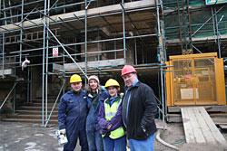 Rab, Linda, Eilidh & Morris on site