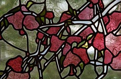 Milngavie - blossom window - detail: top half of door panel