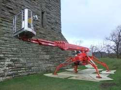 Spider cherry picker below