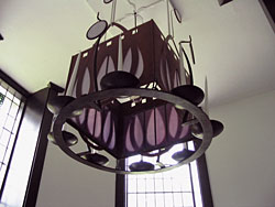 Main stairwell, large hanging candelabrum.