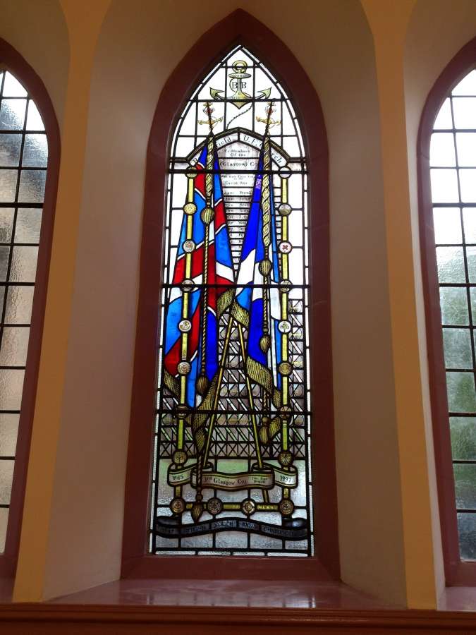 3rd Glasgow Boys'Brigade commemorative window