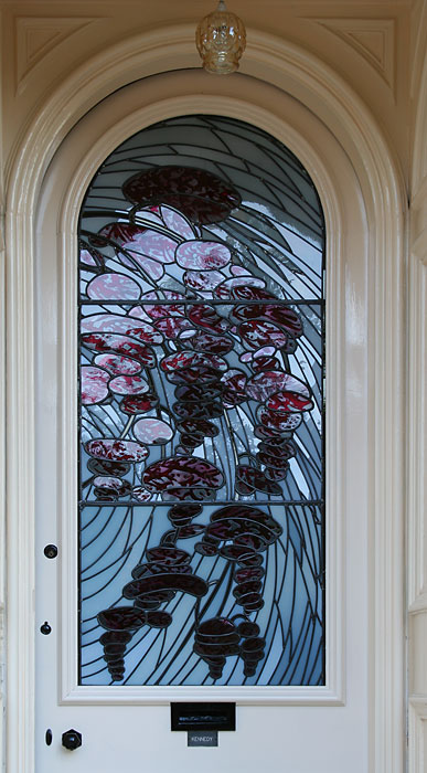 Front door, private house, Glasgow - paint detail